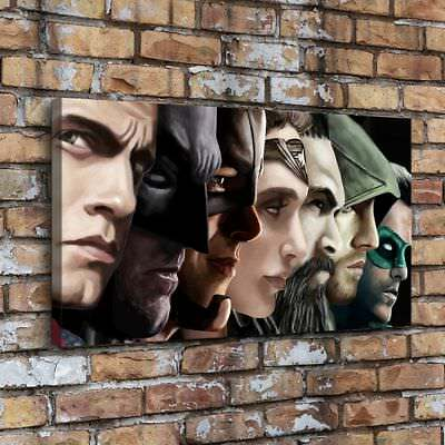 "12""x20"" -Justice League Painting HD Print on Canvas Home Decor Wall Art Picture"