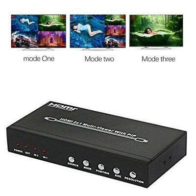 HDMI 2X1 PIP Picture Division Multi-Viewer With Switcher Audio 4 display  modes
