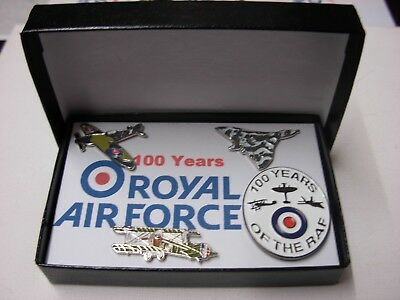 100 Years of the Royal Air Force gift set. RAF Vulcan Spitfire Sopwith camel