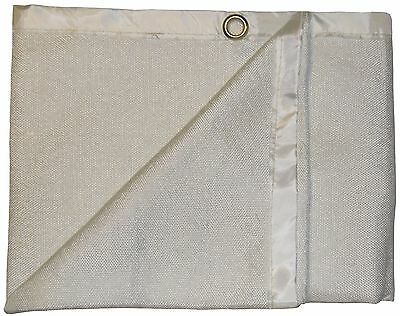 Light Duty 2m x 1m 600°C Glass Fibre Coated Welding Blanket / Fire Blanket