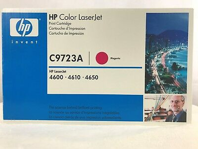 HP C9723A Magenta Toner Cartridge NEW Factory Sealed 4600 4610 4650 (641A)
