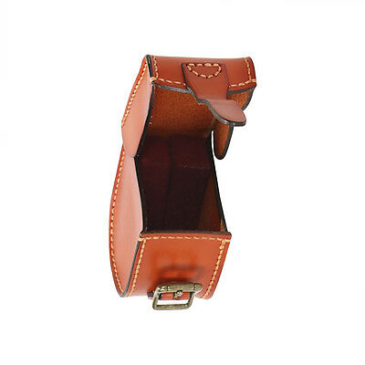 Tourbon Fly Fishing Reels Cover Box Case Genuine Leather Adjustable AU Dispatch