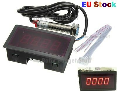 DC 8-15V Red LED Tachometer RPM Speed Meter with Proximity Switch Sensor NPN UK