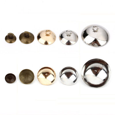 50pcs/lot Iron Pearl Pendant Connector Bail Caps Fitting 6/8/10/15mm Round Beads