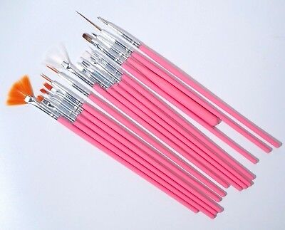 Sh 15pcs Uvgelacrylic Nail Art Brush Pen Set Painting Drawing