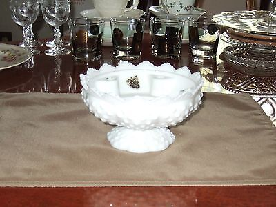 """FENTON MILK GLASS CANDLE HOLDER 3 1/2"""" x 6 1/2"""", VINTAGE AND A $5 & $10 ITEM !!"""