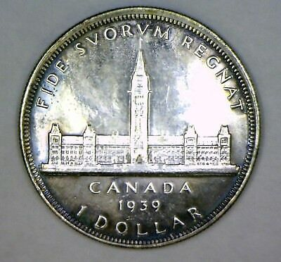 Canada 1939 Silver Dollar: Bu/pl: Great Toning: No Reserve!