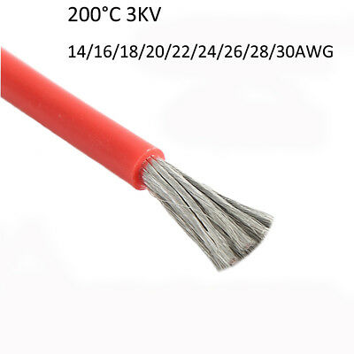 UL3239 Silicone Wire Flexible Cable 14/16/18/20/22/24awg-30awg 200°C 3000V 3KV