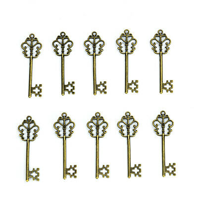 40pcs Antique DIY Keys Alloy Magic Keys Charms Jewellery Pendant Party Decor