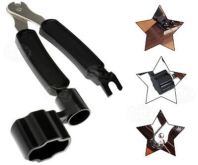 Metal Planet Wave Pro Winder 3 in 1 Guitar String Cutter & Bridge Pin Puller Kit