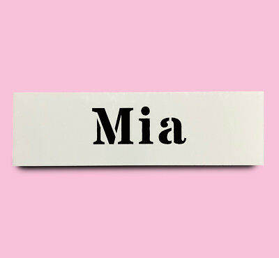 MIA STENCIL girls name 30mm tall 76mm wide ALPHABET STENCIL LETTERS Lettering