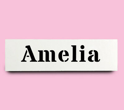 AMELIA STENCIL girls name 30mm tall 147mm wide ALPHABET STENCIL LETTER Lettering