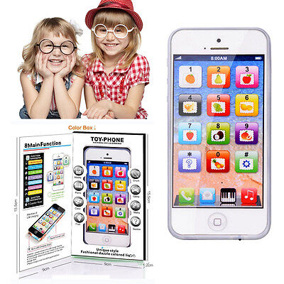 Kids YPhone Music Mobile Phone Toy Study Educational Toy Child New Year Gift