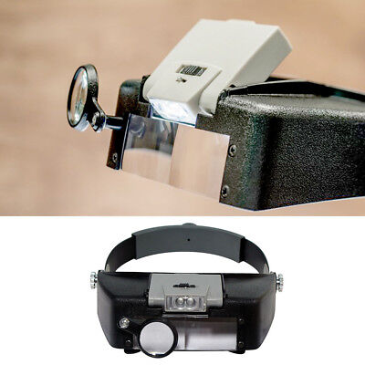 1Pcs SE MH1047L Illuminated Multi-Power LED Head Magnifier 2018