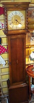 Grandmother Clock circa 1920, Westminster chimes, silent switch, spring movement