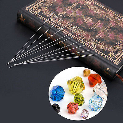 1 Big Eye Curved Beading Needles Only 125x0.6mm Easy Thread Craft Jewellery New