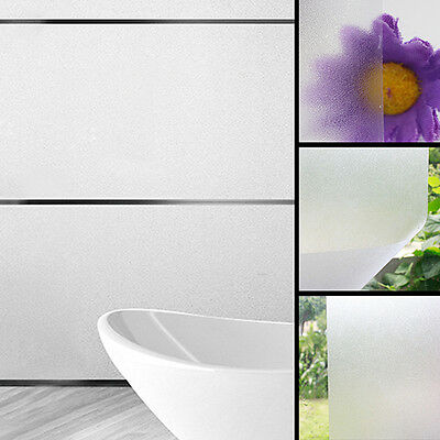 FT- 1 Roll Frosted Privacy Home Bedroom Bathroom Glass Window Film Sticker Hot