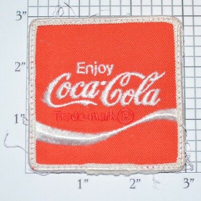 Enjoy Coca Cola Authentic Vintage Embroidered Patch Delivery Driver Uniform Logo