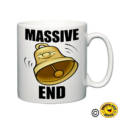 Massive Bell end novelty mug funny tea coffee home office rude ideal gift cup