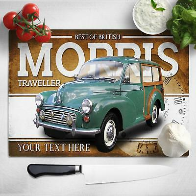 Personalised Morris Traveller Chopping Board Worktop Saver Classic Car CL40