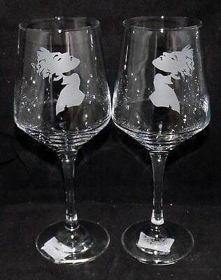 """New Etched """"MADONNA"""" Wine Glass(es) - Free Gift Box  - Large 390mls Glass"""