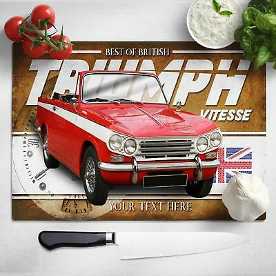 Personalised Triumph Vitesse Chopping Board Worktop Saver Classic Car Gift CL56