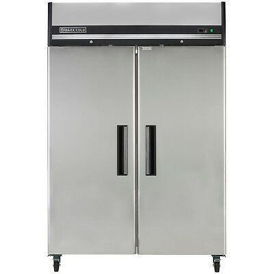 """Maxx Cold 54"""" 49 cf Two Door Upright Reach-In Commercial NSF Sub Zero Freezer"""