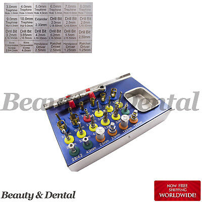 25 Pcs Basic Dental Implant Kit Universal Surgical Sterilization Instruments CE