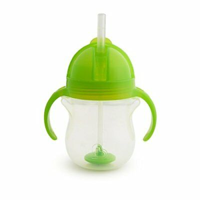 Munchkin Click Lock Tip and Sip Weighted Flexi Straw Trainer Cup 7 oz207 ml, G