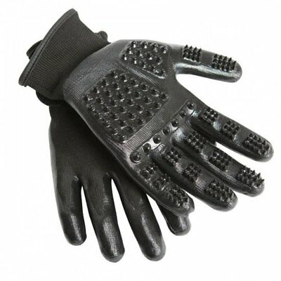 New Hands On Grooming Gloves Mitt Massage For  Dogs Cat Horse Pet - All Sizes