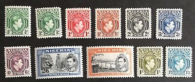 1938-41 Nigeria 11 Mint VLHNG XF Great Collection L154-57