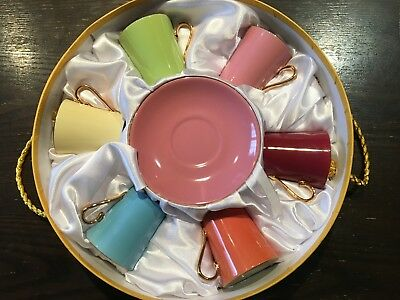 CLASSIC ESPRESSO Coffee Cups & Saucers (Set of 6) by Yedi Houseware ...