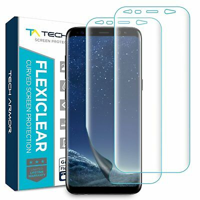 Tech Armor Galaxy S8 Plus Screen Protector [Wet Applied] Clear TPU Film [2-pack]