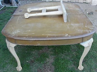 Large Antique American Chippendale Mahogany Dining Room Table L@@K! AWESOME