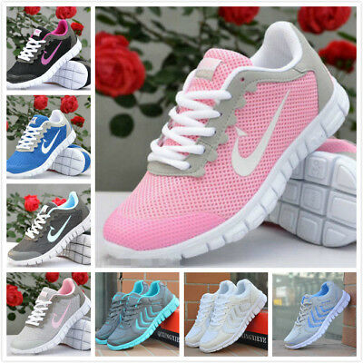 Women's Fashion Casual Breathable Running Lace Up Sneakers Trainer Shoes