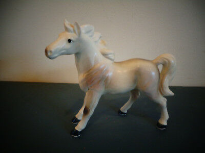 Vintage Porcelain Ceramic Palomino White Gray Horse Figurine Norleans Japan
