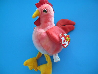 TY Beanie Babies Rooster ** STRUT ** New w/ Tag