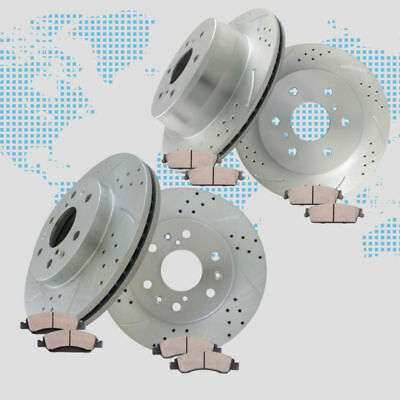 Brake Rotors and Ceramic Pads for 2010 2011 2012 2013 GMC Sierra 1500 SLE 6.2L