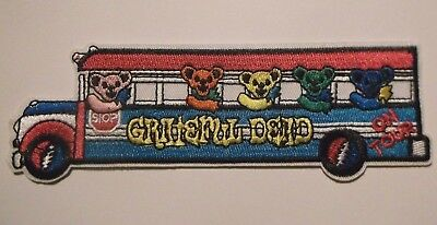 """Grateful Dead Tour School Bus~Embroidered Patch~5 7/8"""" x 2""""~Iron On~FREE US Mail"""
