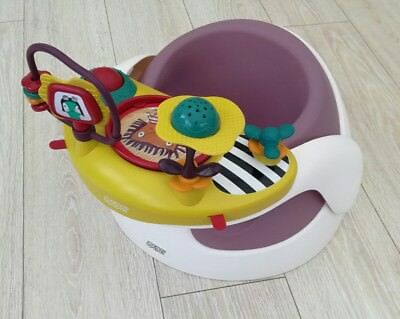 Mamas and papas baby snug Seat feed booster removable play tray floor dusky rose