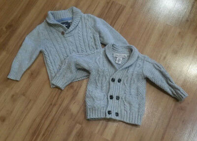 H&M Wool/Cotton Blend Gray Sweaters, Lot of 2, SZ 18-24 months