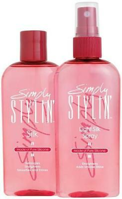 SIMPLY STYLIN' Pure Silicone Light Silk Spray or Silk Serum REVITALIZES WIGS New