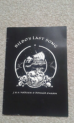 Bilbo's last song {1992} Tolkein &  Signed by Swann VG con 1st EDN