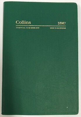 Collins 2018-2019 Financial Year Diary Week To Open B7R Green 35M7.v40-1819