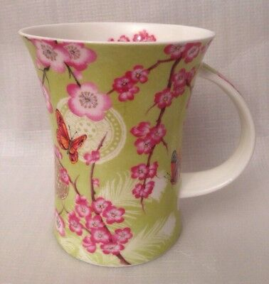 Dunoon Mug Cup Kashima By Aileen Morley Fine Bone China Butterflys Flowers