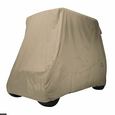 Fairway Golf Buggy Cart Cover Quick-Fit Short Roof Khaki