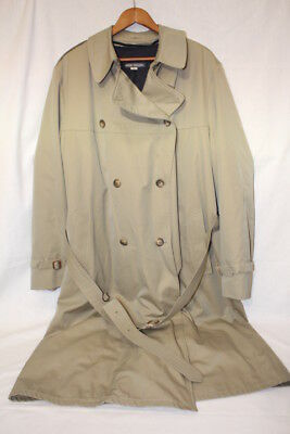 BROOKS BROTHERS Double Breasted Trench,Removable Liner,Heavy Duty! Mens 44L-B106