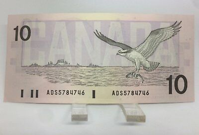 1989 Bank of Canada 10 Dollars MacDonald Banknote ADS 5784746