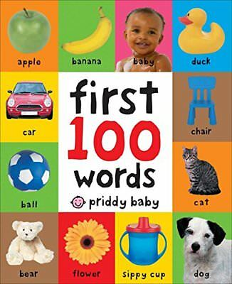 New Kid Baby Toddler Child First 100 Words Educational Book Developmental Fun
