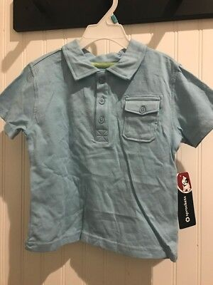 NEW with Tags Toddler Boy 3T Sky Blue Pocket Button Polo FREE Shipping!
